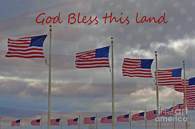 Photograph - God Bless This Land by Sandra Clark