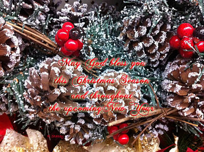 Photograph - God Bless You Christmas by Robyn Stacey