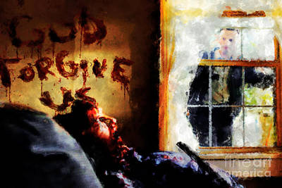 God Forgive Us Art Print by Dead Art
