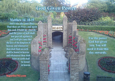 Photograph - God Given Power by Bible Verse Pictures