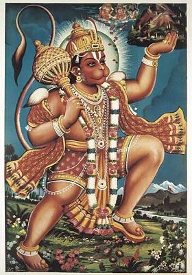 Hindu Goddess Photograph - God Hanuman. Hindu Art. � Aisaeverett by Everett