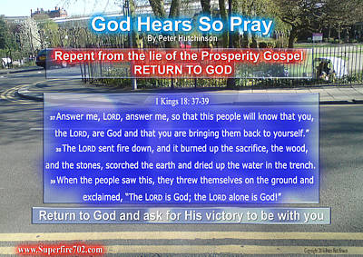 Photograph - God Hears So Pray by Bible Verse Pictures
