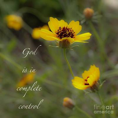 Photograph - God Is In Control by Diana Black