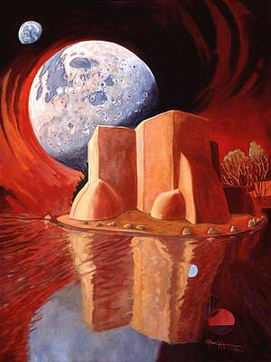 Art Print featuring the painting God Is In The Moon by Art James West