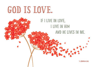Digital Art - God Is Love. by Kathryn McBride