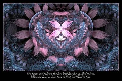 Digital Art - God Is Love by Missy Gainer