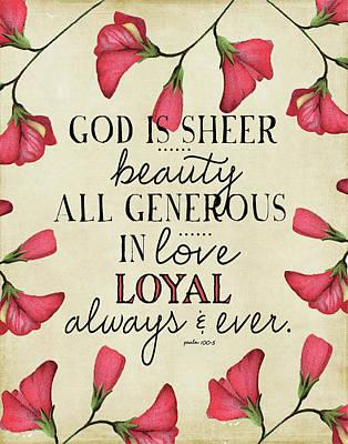 God Is Sheer Beauty Art Print