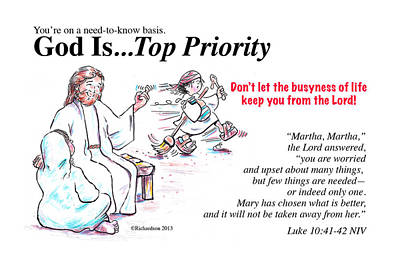 Painting - God Is Top Priority by George Richardson