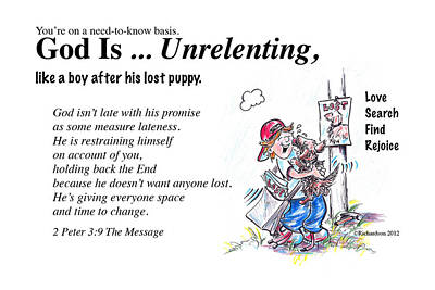 Drawing - God Is Unrelenting by George Richardson