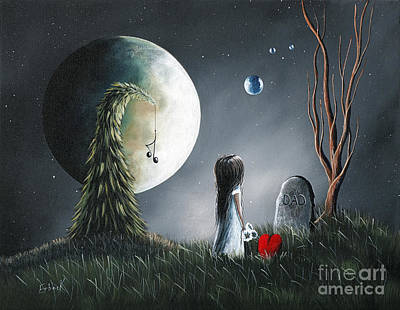 Big Moon Painting - God Must Need You More Than We Do By Shawna Erback by Shawna Erback