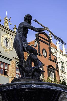 God Of Sea. Neptune's Statue. Art Print