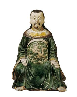 Ceramics Photograph - God Of The North. Chinese Art. Ming by Everett