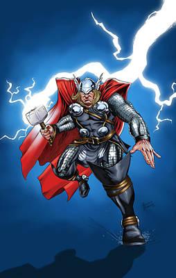 Thunder Painting - God Of Thunder by Arturo Vilmenay