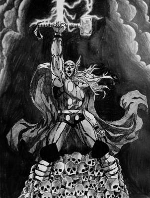 Hammer Mixed Media - God Of Thunder by Jeremy Moore