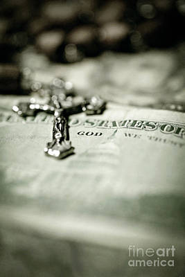 Paper Beads Photograph - God Over Money by Trish Mistric