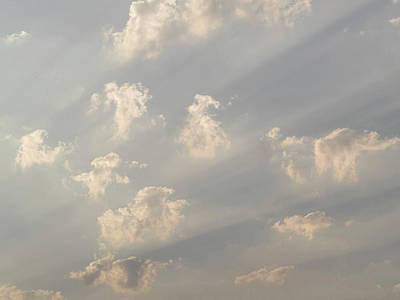 Crepuscular Rays Photograph - God Rays And Clouds, Okavango Delta by Panoramic Images