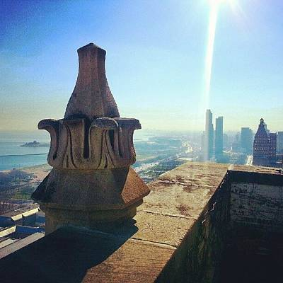 Chicago Photograph - God Rays Out On The Balcony by Jill Tuinier