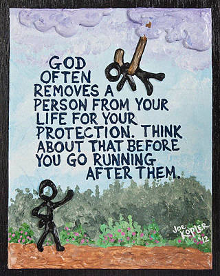 God Removes Art Print