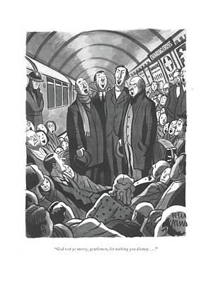 God Rest Ye Merry Art Print by Peter Arno
