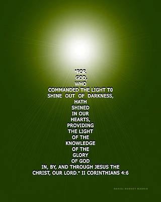 Morning Star Mixed Media - Jesus Cross 101 by Daniel Madrid