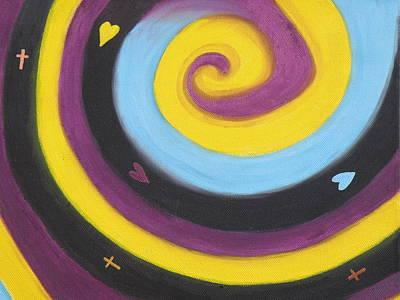 John 3.16 Painting - God So Loved The World by Olive Denyer