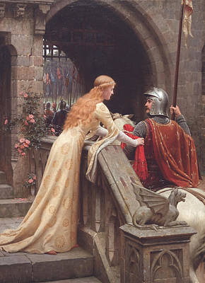 Medieval Painting - God Speed by Edmund Leighton