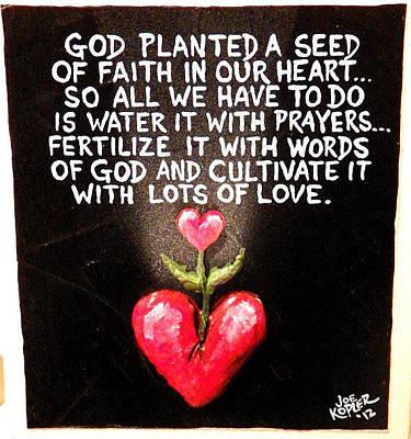 God The Gardener Original by Joe Kopler