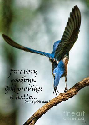 Typography Tees - God will Provide a Hello by Sandra Clark