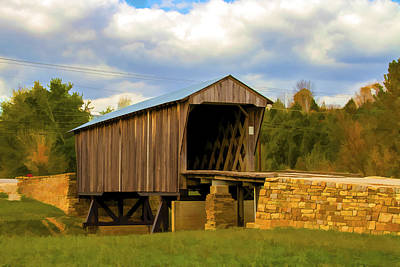 Music Royalty-Free and Rights-Managed Images - Goddard Covered Bridge 1 by Jack R Perry