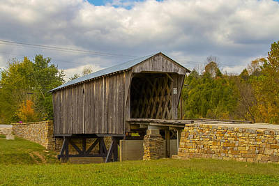 Photograph - Goddard Or White Covered Bridge 2 by Jack R Perry
