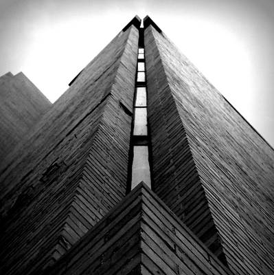 Photograph - Goddard Stair Tower - Black And White by Joseph Skompski