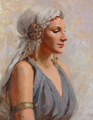 Roman Painting - Goddess by Anna Rose Bain