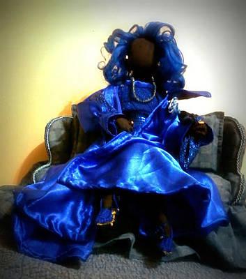 African Cloth Doll Mixed Media - Goddess Blu by Regina Dale