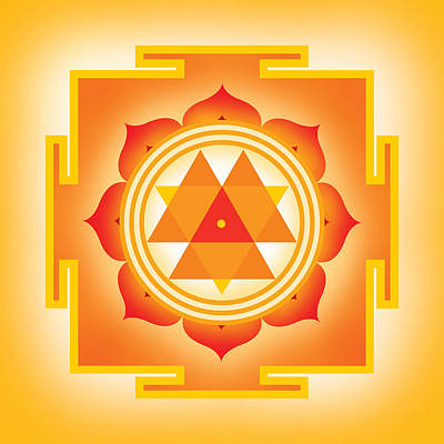 Shakti Digital Art - Goddess Durga Yantra by Soulscapes - Healing Art