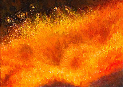 Lava Flow Painting - Goddess by Gloria Hopkins