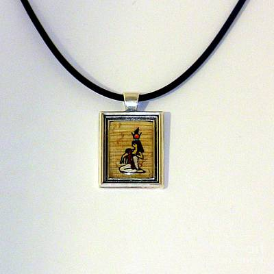 Painting - Goddess Isis Nursing Horus Papyrus Necklace by Pet Serrano