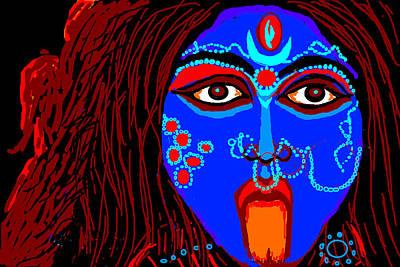 Kali Digital Art - Goddess Maha Kali-2 by Anand Swaroop Manchiraju