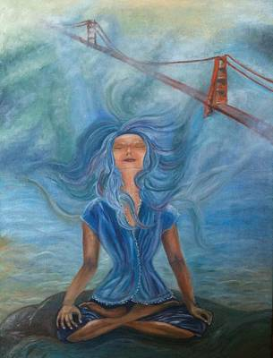 Meditation Painting - Goddess Of Golden Gate Brigde by Mila Kronik