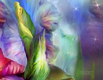 Goddess Of Growth Art Print by Carol Cavalaris