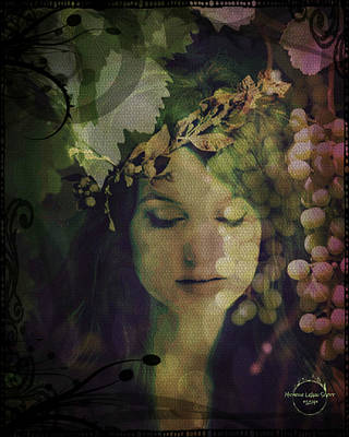 Digital Art - Goddess Of Nature by Absinthe Art By Michelle LeAnn Scott