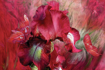 Iris Mixed Media - Goddess Of Passion by Carol Cavalaris