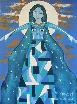 Painting - Goddess Of Sacred Geometry by Jean Fry