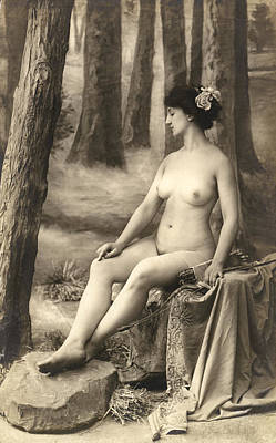 Turn Of The Century Photograph - Goddess Of The Hunt by Underwood Archives