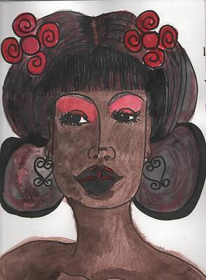 Drawing - Goddess One by Phyllis Anne Taylor Pannet Art Studio