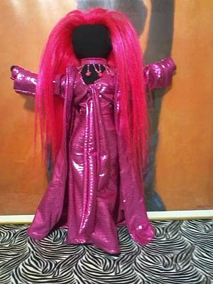 Black Cloth Dolls Mixed Media - Goddess Pink by Regina Dale