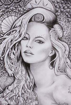 Wall Art - Drawing - Goddess Sinann by Claire Frawley