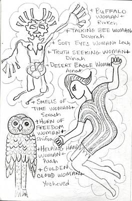 Drawing - Goddess Sketch 42 by Suzan  Sommers