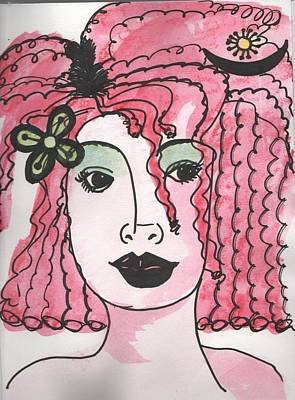 Drawing - Goddess Two by Phyllis Anne Taylor Pannet Art Studio