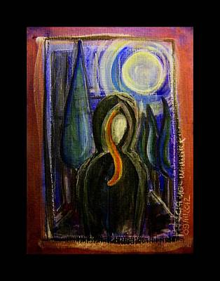 Subconscious Painting - Goddess Under The Cypress Moon by Mimulux patricia no No