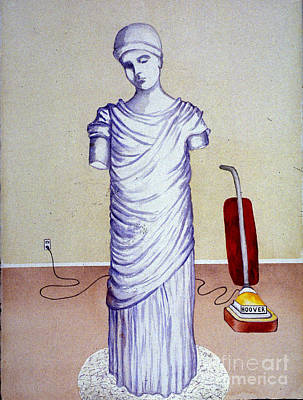 Painting - Goddess W Vacuum by Patricia  Tierney